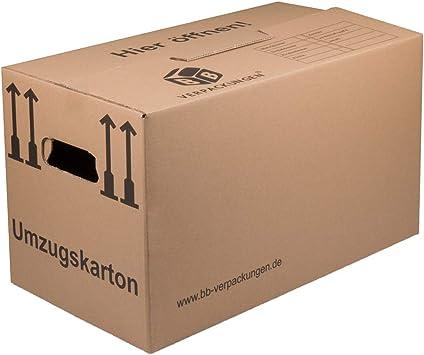 150 Umzugskartons Profi 600 X 330 X 340 Mm 2 Wellig 40kg Bb Verpackungen Amazon De Burobedarf Schreibwaren