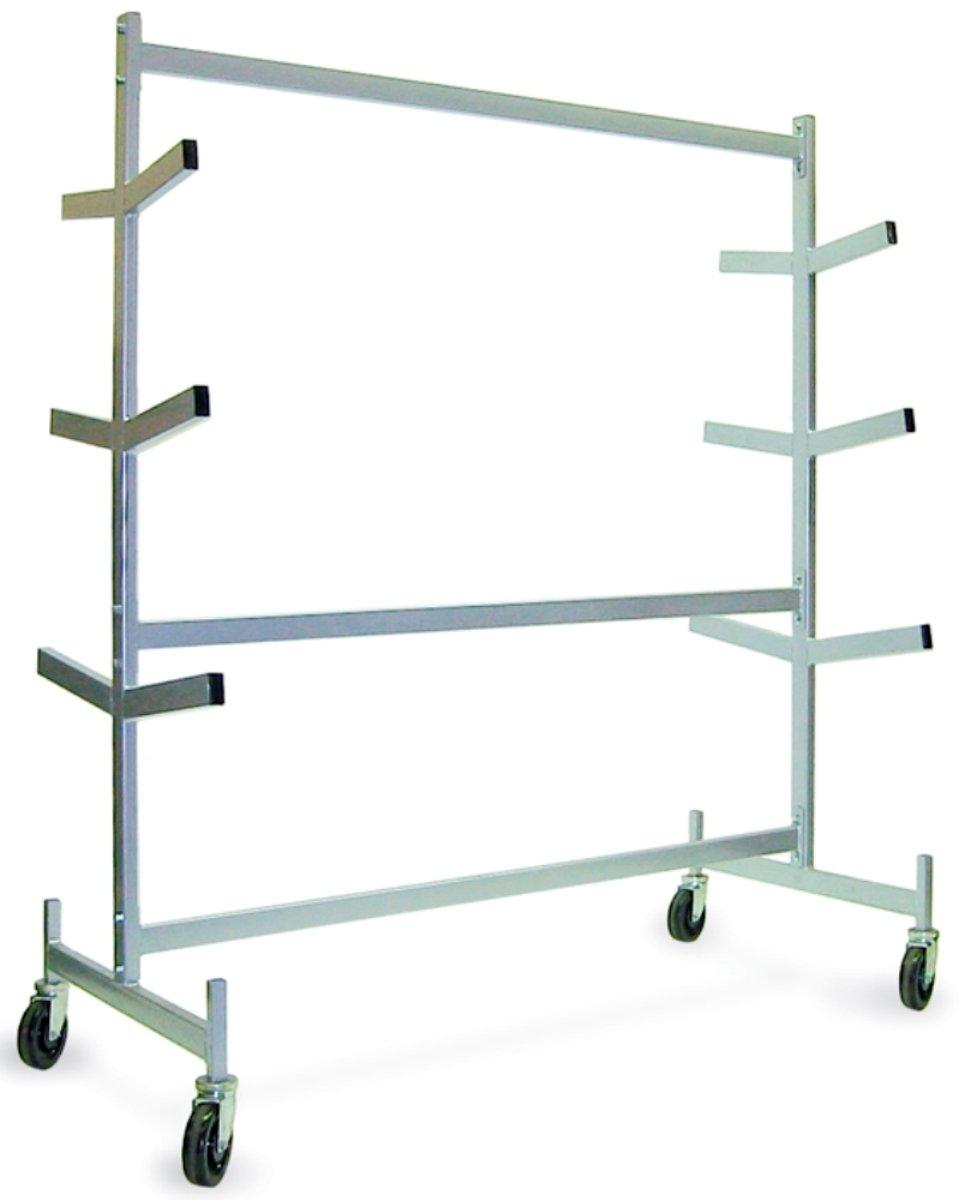 Raymond 976 Steel Pipe Storage Rack with Brakes, 1200 lbs Capacity, 63'' Length x 30'' Width by Raymond