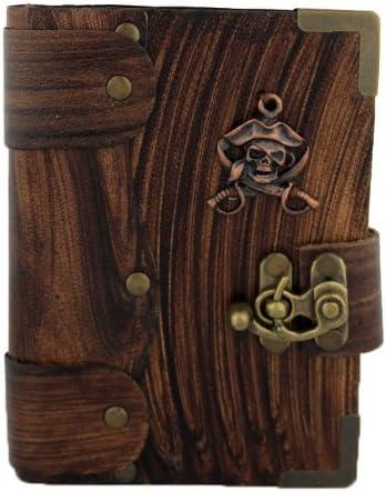 Colgante Emblema Pirata en Diario de cuero Marrón / Diario / Bloquear / Marrón Estilo Vintage / Notebook / Papel normal / libro / Mujer / Hombre / Los niños / Trabajo de oficina