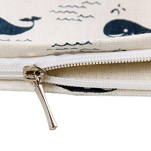 Zip Whale Tote Animal song L244 Print Canvas Cute Bag Women's Oath xwaBqTfSv