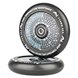 Kutrick Complete 2pcs 110mm Hollow Core Scooter Wheels Pro Scooter Wheels Replacement Pairs with Abec-11 Bearing (2-Count)