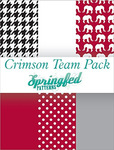 CRIMSON & WHITE THEME PACK of Craft Vinyl Team Inspired Pattern Craft Vinyl Pack Springfed Printing