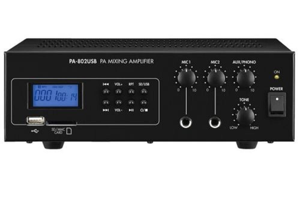 Amplificador licuadora Public Adress 30 W Max lectura MP3 USB Slot ...