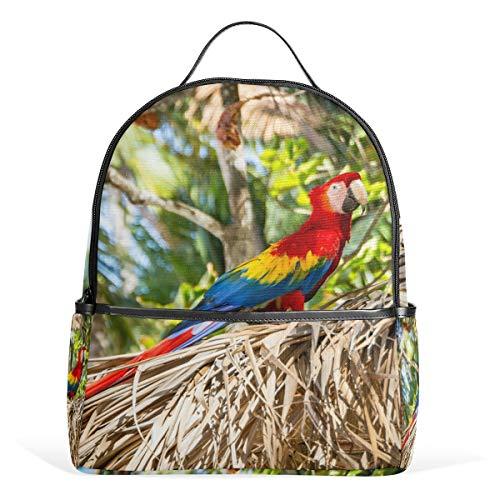 - BackpackScarlet Macaw View School Bags Daypack Bookbag Shoulder Laptop Book Bag for Womens Mens Teens Boys Girls Kid's