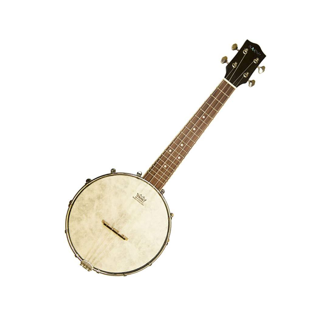 Perfk 23inch Banjo Ukulele Konzert 4 Saiten Musikinstrument Ukulele Uke Banjolele Banjo Ukulele