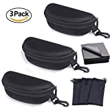 ATIMIGO Sport Portable Travel Zipper Sunglasses/Eyesglasses Hard Case Box Bag With Hook