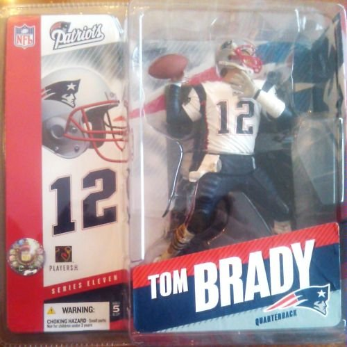 Tom Brady #12 New England Patriots White Jersey Chase Variant Alternate McFarlane NFL Series 11 Action Figure Six Inches High