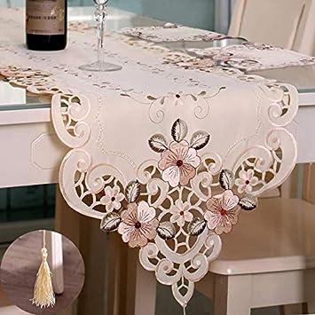 Amazon.com: YHMAE - Camino de mesa bordado con flores, de ...