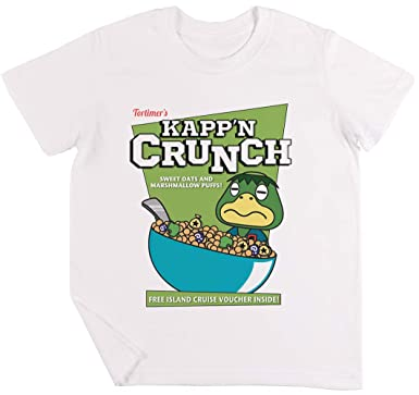 Kappn Crunch! Niños Chicos Chicas Unisexo Camiseta Blanco ...