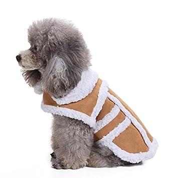 Bright Love Perro Caliente Abrigo Perro Chaqueta Invierno Perro Ropa Tiempo Frío Perro Chaqueta para Perros,Flesh,M: Amazon.es: Deportes y aire libre
