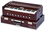 MAHARAJA Folding RoseWood Harmonium - 9 Stopper - Safri - 3½ Octave - With Coupler, Comes with Book & Bag - Tuned to A440 (PDI-AHF)