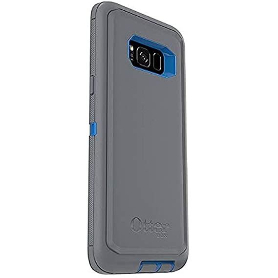 OtterBox Defender Series for Samsung Galaxy S8+ Plus Screenless Design, Case Only - Bulk Packaging - Marathoner (Cowabunga Blue/Gunmetal Grey)