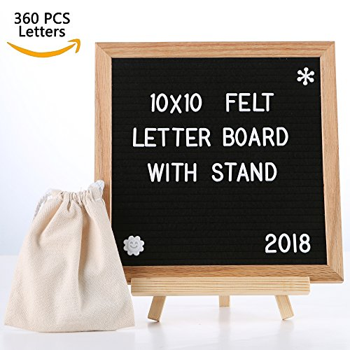 SPACECARE Letter Board 10 x 10 Inches with 360PCS Letters, Changeable Felt Letter Board for Office, Restaurant, DIY Frame (Sign Board)
