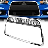 Chrome ABS Front Bumper Center Insert Grille Grill Overlay for 2008-2011 Mitsubishi Lancer Sedan Brand New On Sales