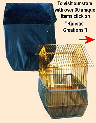 Sheer Guard Bird Cage Set Skirt and Cover - Large Size