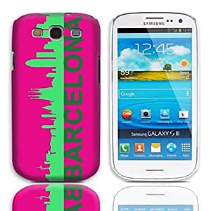 LIMME Barcelona Pattern Hard Case with 3-Pack Screen Protectors for Samsung Galaxy S3 I9300