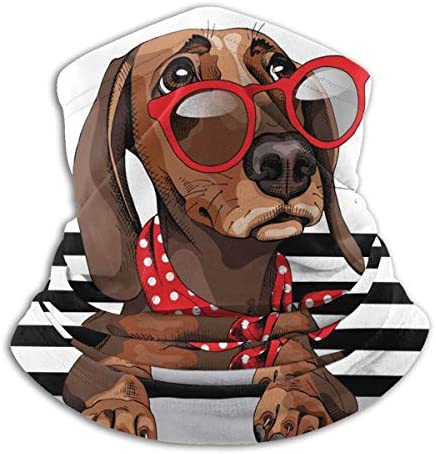 Dachshund Dog ネックガード 日焼け防止 バンダナ 自転車用 フェイスガード 多機能 スポーツ ターバン