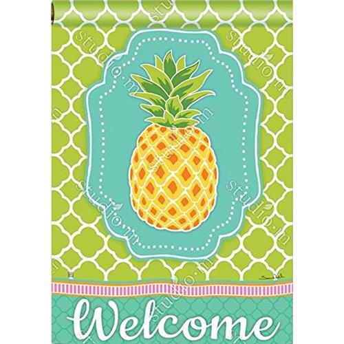 Magnet Works BreezeArt House Flag - Preppy Pineapple ()