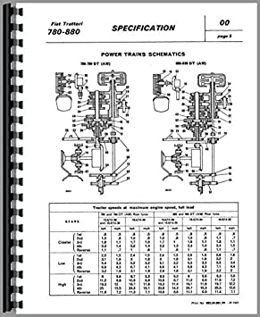 fiat 780 tractor service manual amazon co uk garden outdoors rh amazon co uk Fiat Hesston Tractors 4WD Fiat Tractor 1 32