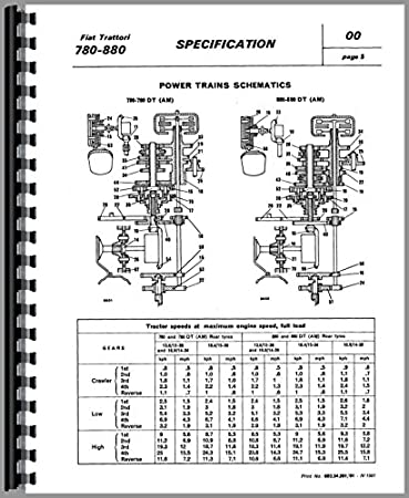 fiat 780 tractor service manual amazon co uk garden outdoors rh amazon co uk Fiat Tractor 1 32 Fiat Hesston Tractors 4WD