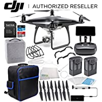 DJI Phantom 4 PRO+ PLUS Obsidian Edition Drone Quadcopter Includes Display (Black) Essentials On-The-Go Bundle