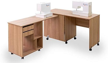 Comfort 8 | Mesa para máquina de coser y overlock | (Lakeland Acacia Light): Amazon.es: Hogar