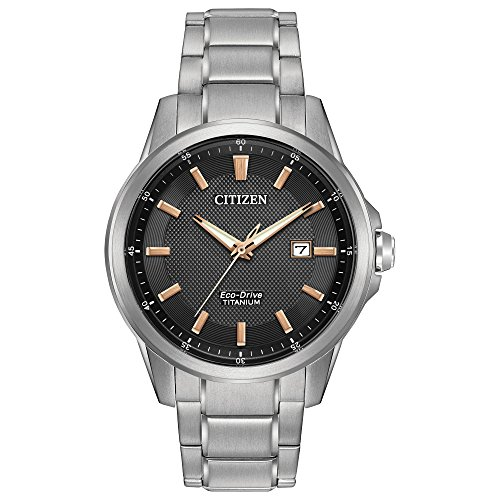 Citizen Men's Eco-Drive Titanium Watch with Date, AW1490-50E