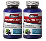Resveratrol Supreme 1200mg Maximum Strength Plus 1200 Red Wine Supplements(2 Bottles)