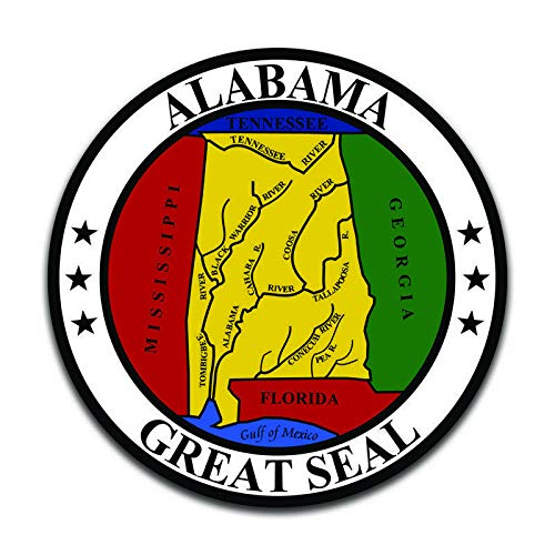 More Shiz Alabama State Seal (2 Pack) Vinyl Decal Sticker - Car Truck Van SUV Window Wall Cup Laptop - Two 5 Inch Decals - MKS0887
