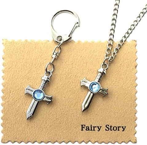 【Fairy Story】 フェアリーテイル グレイ・ソルージュ モチーフ 【ネックレス&キーホルダー セット 】 FAIRY TAIL 【クロス&箱あり】