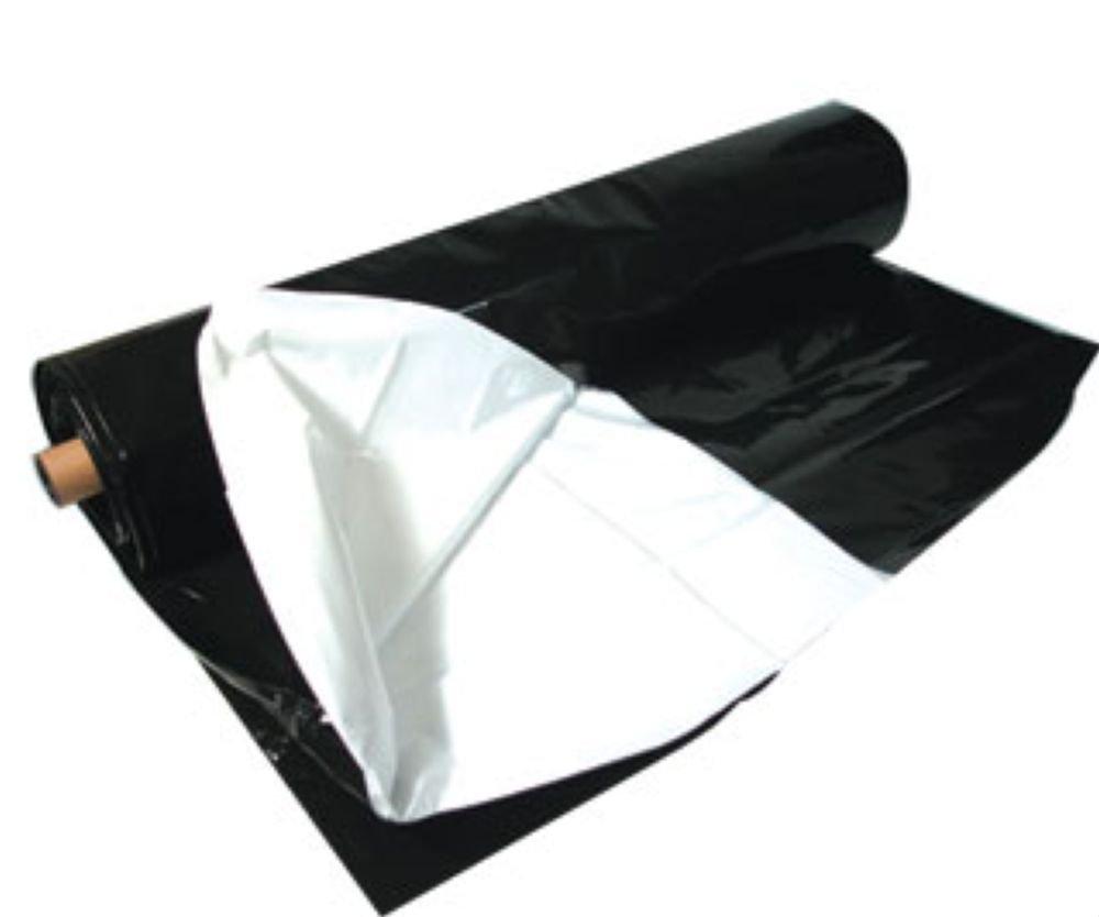 Hydrofarm ABWP25 Black White Poly Film, 10 by 25-Feet, 5.5mm Thickness, 10 x 25'/5.5 mm T by Hydrofarm