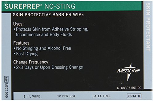 Medline Protectant Sureprep No sting Count