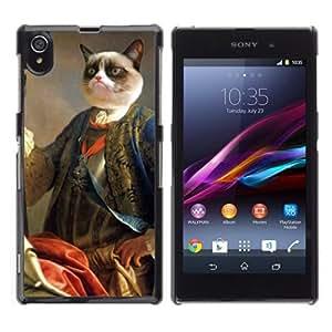 YOYOSHOP [Funny Grumpy Cat Royalty ] Sony Xperia Z1 L39h Case