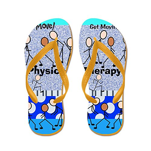 Cafepress Fysiotherapie - Flip Flops, Grappige String Sandalen, Strand Sandalen Oranje