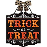 "New Age Scare Halloween Party Trick or Treat Hanging Sign Decoration, Board, 12"" x 11"""