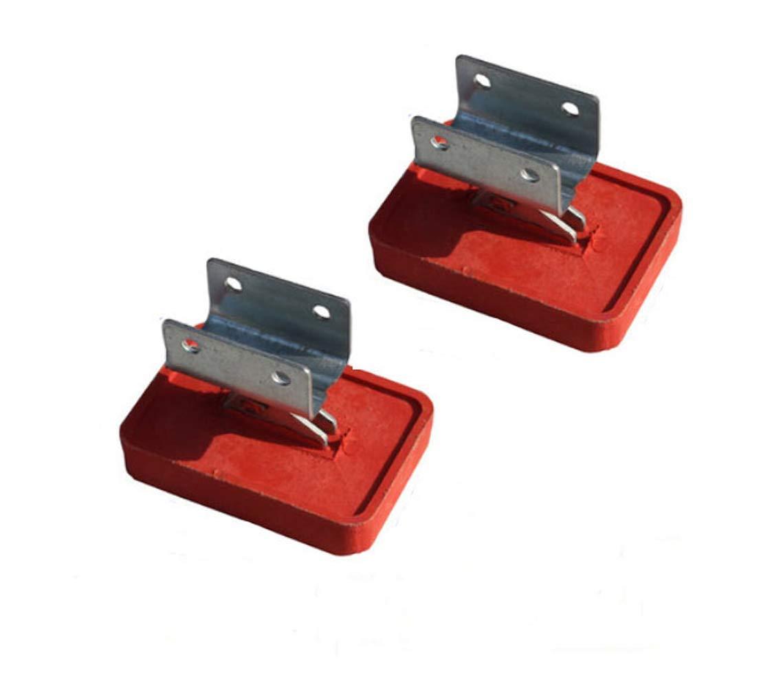 Heavy Duty Adjustable Anti-Slip Rubber Stop Mat Feet Shoe Kit for Extension Ladder Parts,2pcs