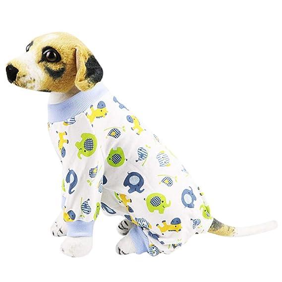 Mascotas Perros Accesorios, Zolimx Perro Mascota Cachorro Ropa de Dormir Pijama Ropa Mono Ropa de