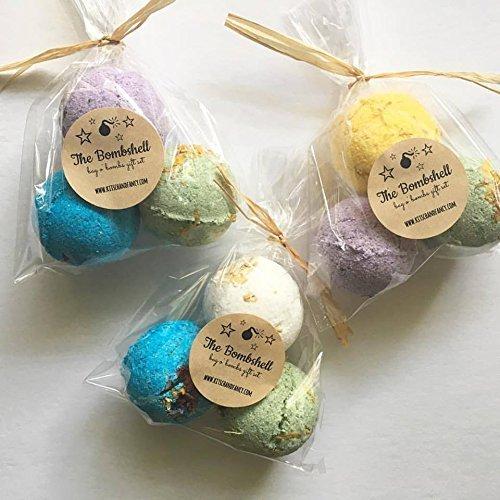 10 GIFT SETS: Mini BOMBSHELL Bath Bomb Gift Set by kitschandfancy
