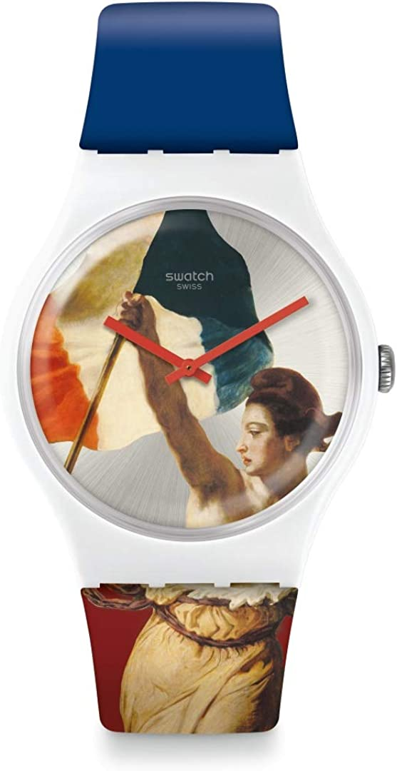Swatch Reloj Analógico para Unisex Adultos de Cuarzo con Correa en Silicona SUOZ316