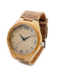 BOBO BIRD B067 Women's Vintage Round Wooden Wristwatches