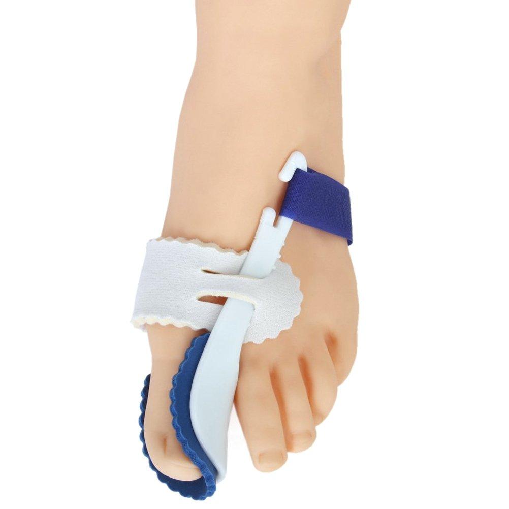 Pixnor une paire de gros orteil oignon lisseur nuit attelle Hallux Valgus Pad correcteurs pied soin (blanc + bleu)
