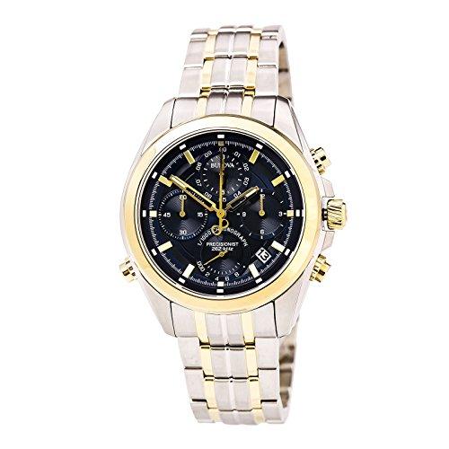 Bulova Men's Analog-Quartz Watch with Stainless-Steel Strap, Multi, 22 (Model: 98B276) ()
