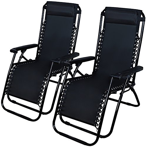 Sale Outdoor 2 New Zero Gravity Set Lounge Chair Beach Patio Furniture Pool Yard Folding Recliner RF39 Clearance DIscount
