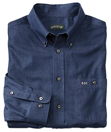 free Pure Cotton Denim Shirt, Xx Large (Wrinkle Free Pure Cotton Shirt)