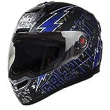 Steelbird Helmet SBA-1 Free Live with Smoke Visor and Matt Finish (Medium 580MM, Black with Blue)
