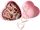 52 PCS Heart Shape Nonskid Paper Clips,Color Decorative Paper Clips,Creative Office Item