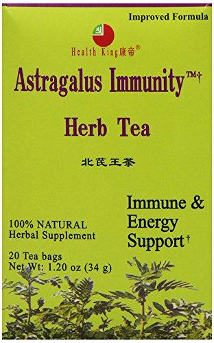 Health King  Astragalus Immunity Herb Tea, Teabags, 20 Count Box