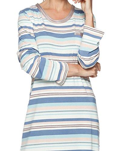Pastunette Loungewear Soft Shade Chemise de nuit Manches Longues - Bleu et Brun 95cm 1051-322-2 (195)