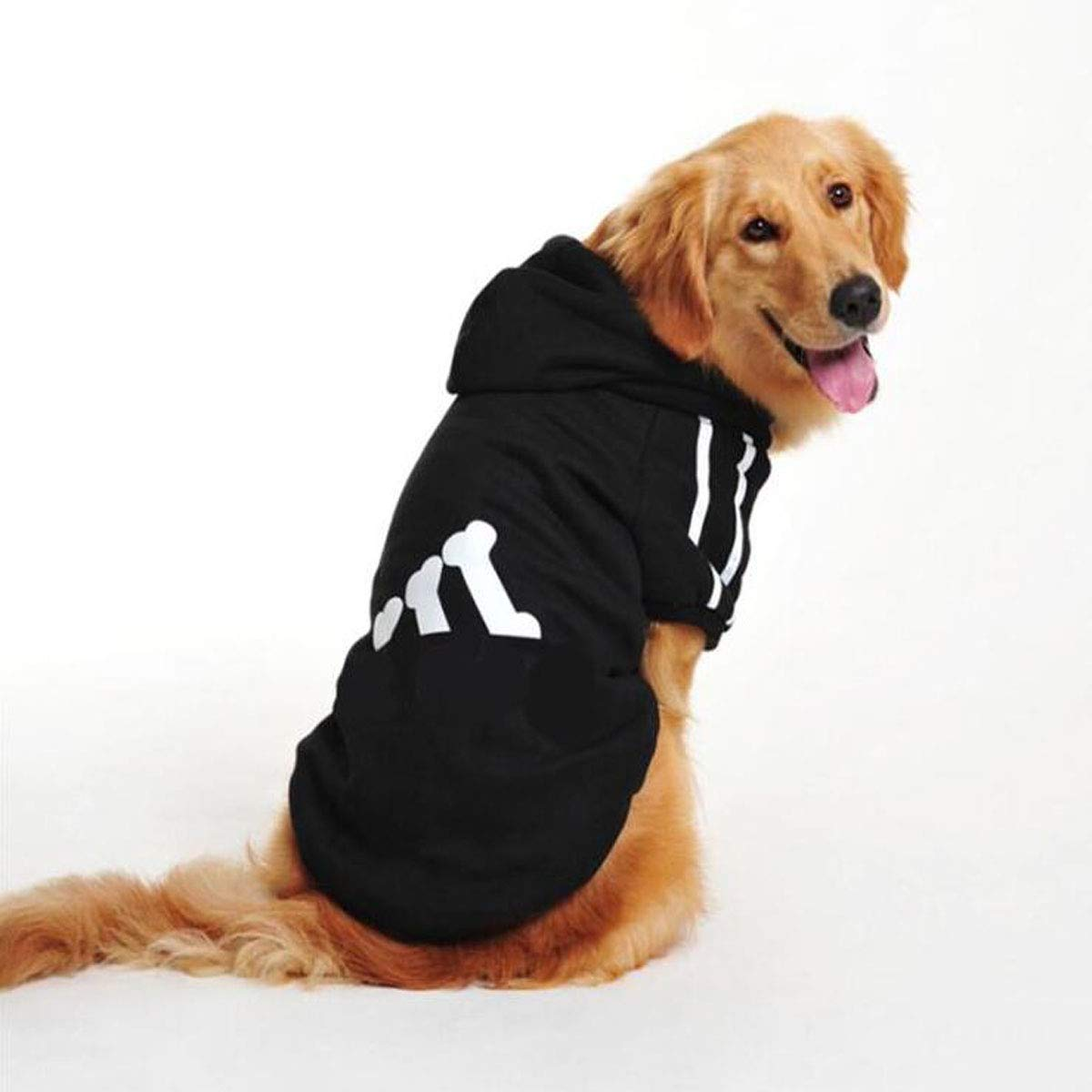 Black 7XL Black 7XL Dog Autumn and Winter Clothes, Medium and Large Dogs, Pet Clothing (color   Black, Size   7XL)
