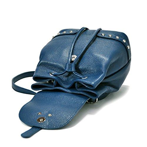 Sabrina pelle navy da Italy LxHxL in Made colorata Blu 013 tracolla EdgeModaStyle in donna Zaino Borsa a ZN spalla Blu Mod Dimensioni Firenze a 21x24x13cm Borsa Baltico 100 vrvqF